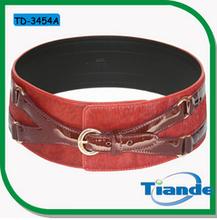 diseño de moda occidental de ancho de color rojo con cinturones cinturón de cintura para las mujeres