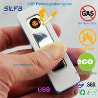 Silfa Super mini rechargeable USB ligher electronic gift items
