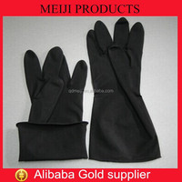 Black Industrial Latex Rubber Hand Gloves