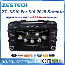Chinese Manufacturer car dvd player for kia Sorento 2015 car stereo with BT, radio, fm, Rearview camera, car gps navigation