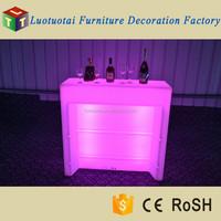Hot selling plastic straight led light mobile bar led night club tables