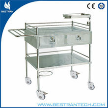 Chinese BT-SCT002 Stainless steel hospital mobile medical trolley medicine carts for sale