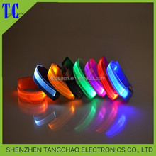 Promotion Gift Led Flashing Light Wristband 2015 New years wholesale led sports wristband