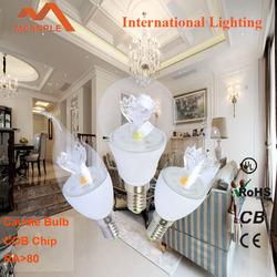 China Aluminum and Glass E14 Led Bulb, 4w, ra>80 led candle lights