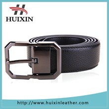 Italian leather belt cowhide genuine leather mens belt with metal pin buckle