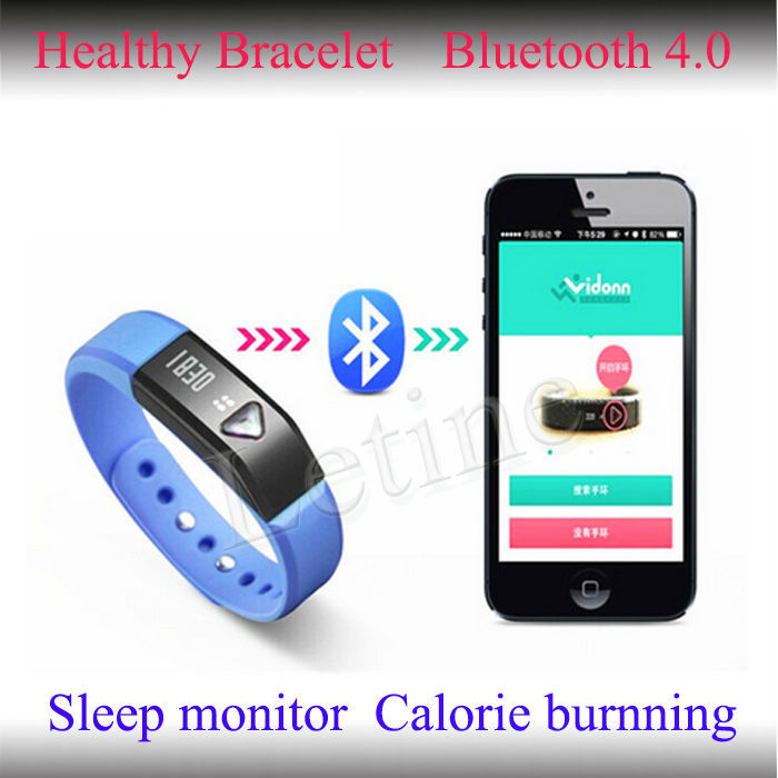 Hottest bracelet bluetooth vibrant avec sommeil. moniteur., chronomètre, bracelet en silicone pédomètre sainelivraison fonction
