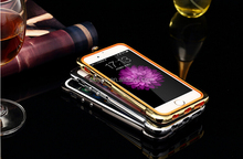 Bling diamond perfume shape metal bumper for iphone 6 plus ,soft tpu shockproof bumper case for iphone 5 5s