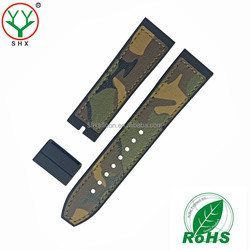 fashion #391 camouflage silicone rubber watch strap 18 20 22 24mm