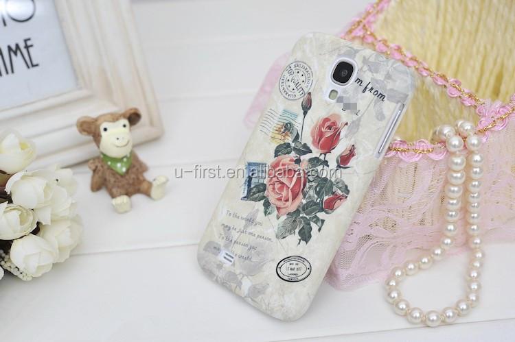 Goegtu Royal Florid Flower Series Plastic Case for S4