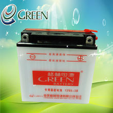 GREEN 12v Dry Charged Battery for Triumph Motorcycle 12N5-3B