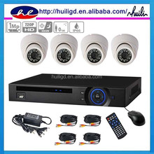 Shenzhen Famous brand CAMTEK Hybrid 4CH 720P&960P HD CVI Dome kit outdoor Security Camera System