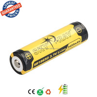 SKYRAY SR18650 3.7V 2400mAh Lithium Li-ion Rechargeable Protected Friendly Durable Battery for Flashlight Device