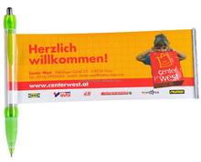 CH-6120 Plastic Flag ballpoint pen with banner/Advertisement ball pen