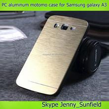 Pc + aluminum motomo case for samsung galaxy A3 A3000 ,for samsung galaxy A3 case motomo