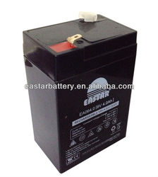 Super quality cheaper price 6v 4ah rechargeable lead acid battery for led light ups