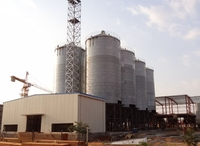 Long life service small grain steel silos