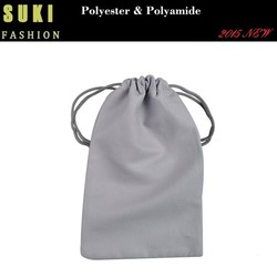Logo small drawstring pouch sport eyeglass pouch sunglass soft case