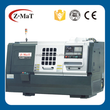 """FTL320 6"""" chuck flat bed z axis hard rail x axis linear rail 8 station turret cnc turning lathe with tailstock"""