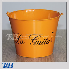 Double side printing galvanized Metal Ice Bucket