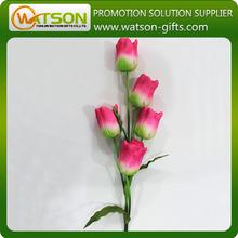 Multi- flores de color rojo de tulipán artificial de flores de seda