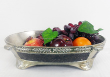 Wholesale Peru Antique Mosaic Luxury Large Square Resin Fruit Bowl With Clear Black Indian Home Decoration Art Craft Home Decor