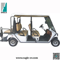 Electric Street legal golf carts, used golf buggy, 4 seats with rear foldable seat, EG2048HSZR