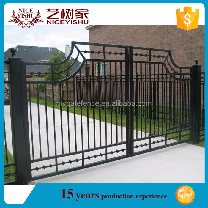 Usine directe prix m tal porte de jardin cl ture moderne for Portes de jardin en metal
