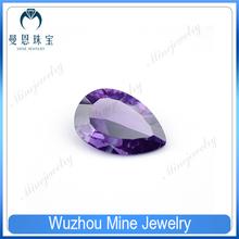 jewelry material millenium cut pear shape cubic zircon gems