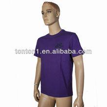 100% más barato al por mayor de poliéster en blanco t- shirt