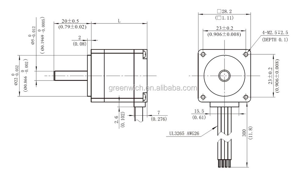 nema14 hybrid stepping motor frame size 28mm