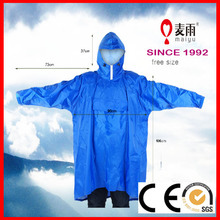 adult breathable 100% polyester waterproof rain poncho with sleeves