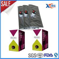 Wine carton packaging 3l bag in box