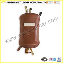 Factory Genuine Leather Handmade Hard Leather Sun Glasses Case