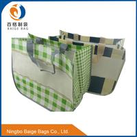 folding reusable tesco laminated pp woven non woven pe shopping bags