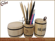 Beautiful Barrel shaped wooden colored pen and pencil holder