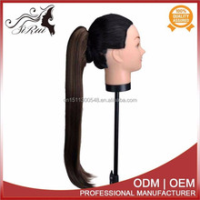 Facoty direct quality synthetic vip claw clip ponytail hair extension, hair extensions tracks