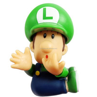 "New Loose Super Mario Bros. Baby BB Luigi Cute 3.5""action Figure Toy Super Mario"