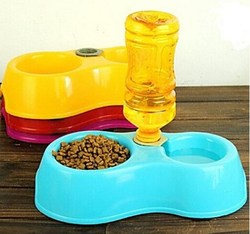 High quality double pet feeder / pet bowl / dog waterers / plastic pet bowl
