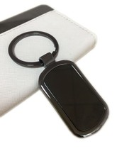 Promotion Custom Black Metal Blank Keychain Key Holder Keyring