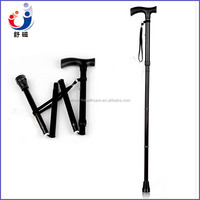 Adjustable aluminum folding cane for the elderly and disabled