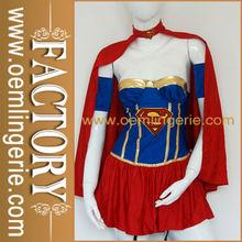 venta al por mayor super corsé de chica de traje de fantasía de disfraces vestido de
