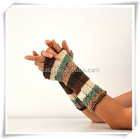 Custom rainbow hand fingerless gloves for women