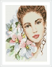 2.5mm round diamond painting women flower picture RZ026