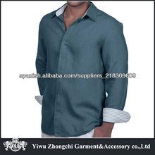 camisa de lino de los hombres