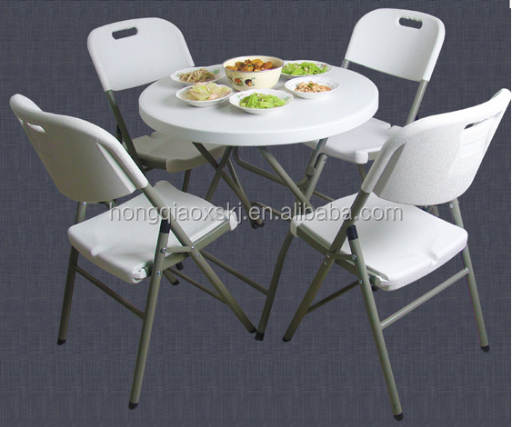 80cm Outdoor Furniture Cheap Plastic Folding Picnic Dining Tables And Chairs