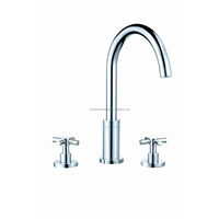 Hot selling three holes bathroom taps and mixers