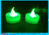 2015 dancing flame led color tea light candle wick led candle set