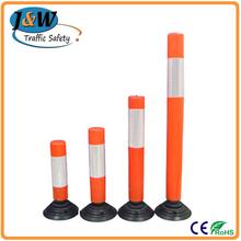 PVC / PU / EVA Removable Flexible Reflective Road Warning Post