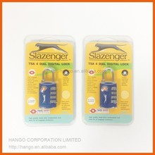 Zinc Alloy TSA Lock Travel TSA Luggage Lock 3 Digit Combination Lock