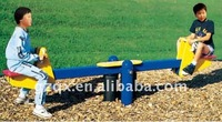 Riding horse double park swing and seesaw